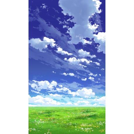【イラスト背景】【合作】青空_縦PAN用03_01