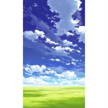 【イラスト背景】【合作】青空_縦PAN用03_11