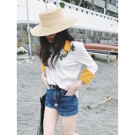 Corduroy flower shirt