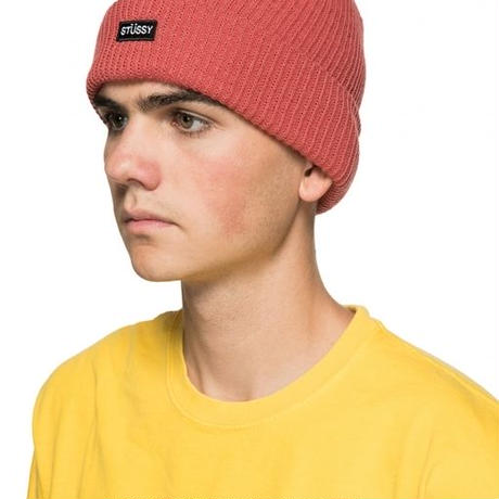 STUSSY Small Patch Watch Cap Beanie Grey