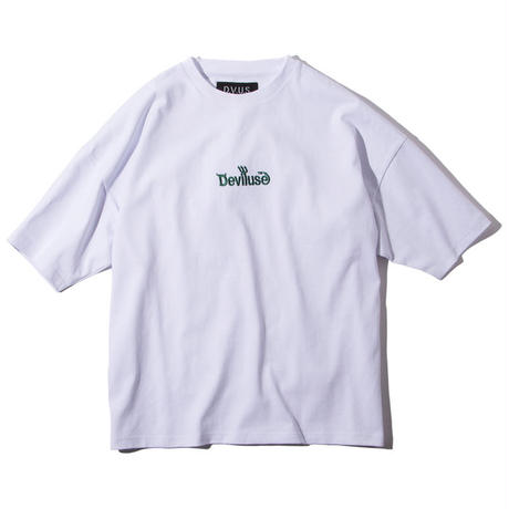 Deviluse Logo Embroidered Big T-shirts WHITE