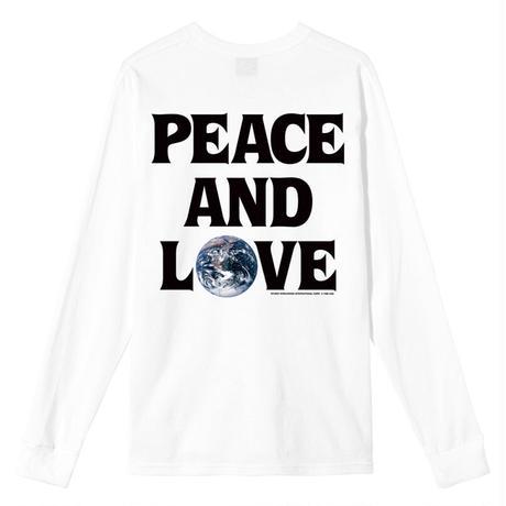 STUSSY PEACE & LOVE LS TEE WHITE