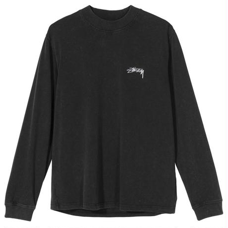 STUSSY  BIG STOCK LS MOCK BLACK