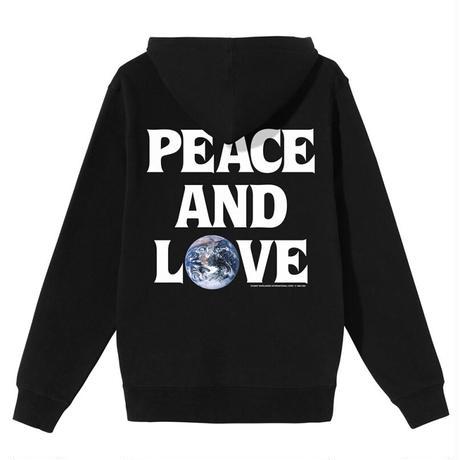 STUSSY PEACE & LOVE HOOD BLACK