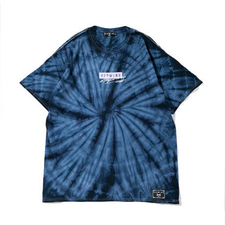 "HEDWiNG ""Pierre"" Tie-dye T-shirt Navy"