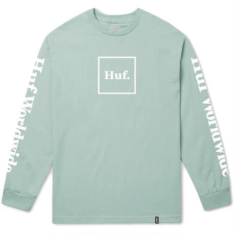HUF DOMESTIC BOX L/S TEE CLOUD BLUE