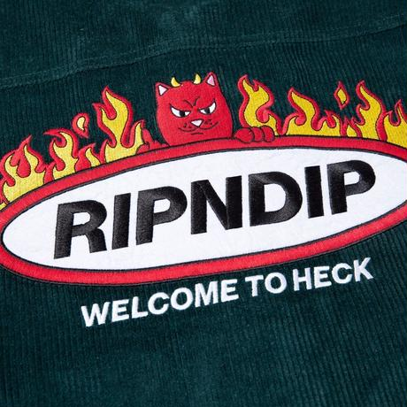 RIPNDIP Welcome To Heck Corduroy Jacket Hunter Green