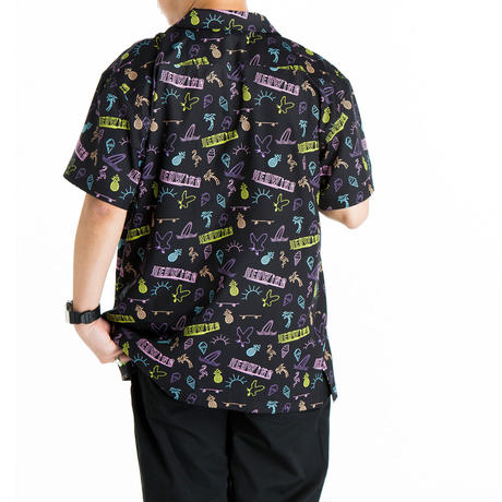 HEDWiNG Neon Totalhandle Shirt Black