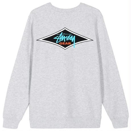 STUSSY GEAR CREW ASH HEATHER