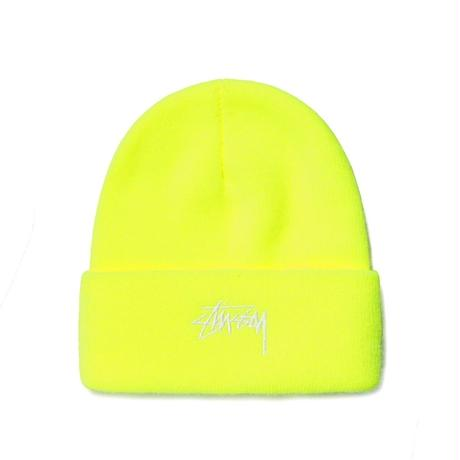 STUSSY STOCK CUFF BEANIE SAFETY YELLOW