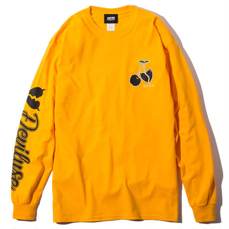 Deviluse Cherry L/S T-Shirts YELLOW