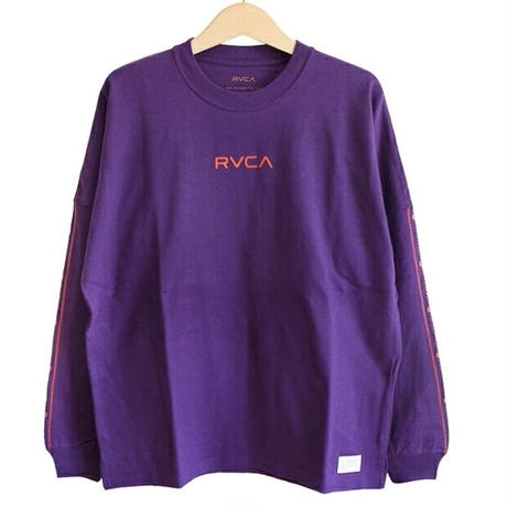 RVCA BIG SILHOETTE L/S TEE PURPLE