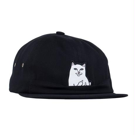 RIPNDIP Lord Nermal 6 Panel Pocket Hat BLACK