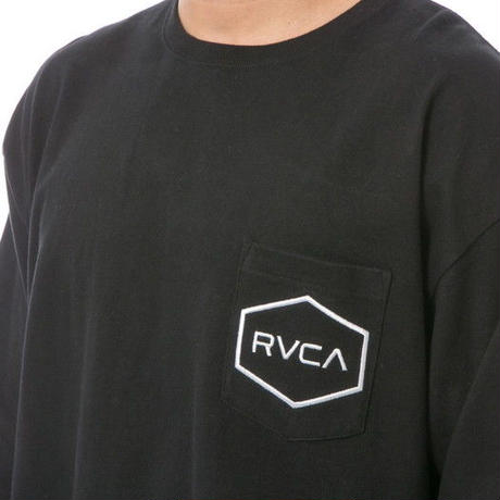 RVCA BIG HEXED L/S TEE BLACK