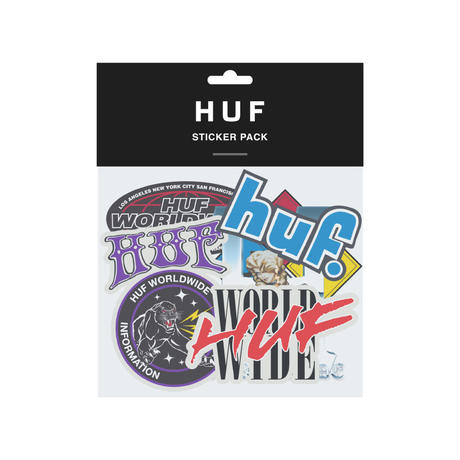 HUF STICKER PACK ASSOTED