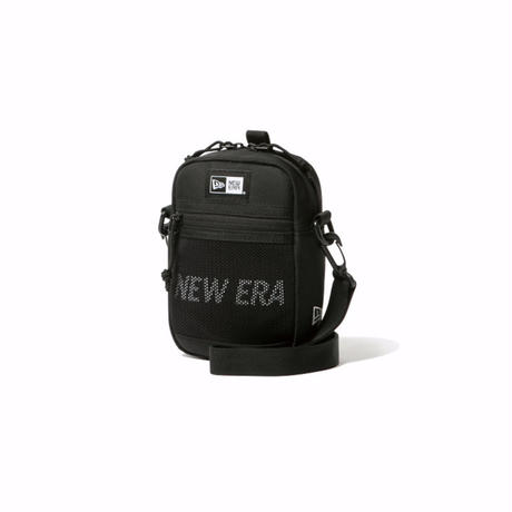 NEWERA SHOULDER POUCH 2 PRINT LOGO BLACK / WHITE