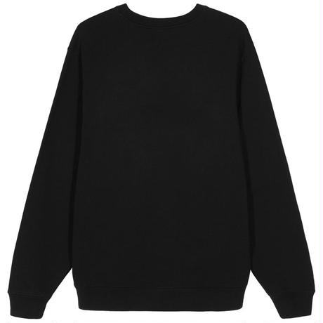 STUSSY PRETTY STÜSSY APPLIQUE CREW BLACK