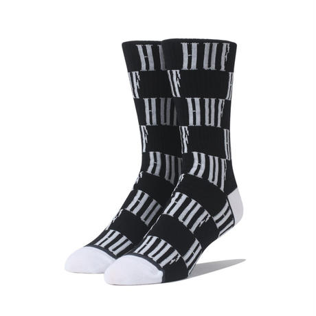 HUF BIG CHECKERED SOCK BLACK