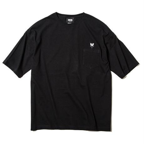 Deviluse Heartaches Pocket Big T-shirts BLACK