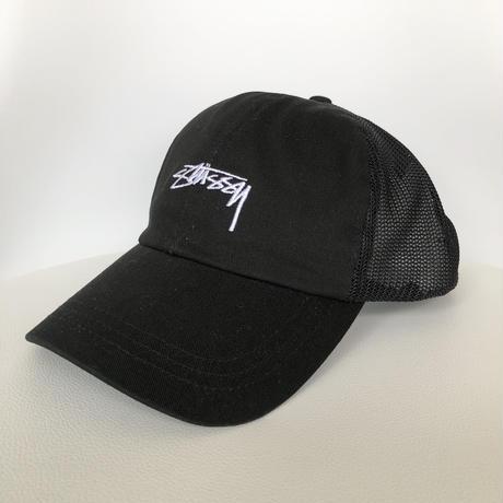 STUSSY Stock Low Pro Trucker Cap BLACK