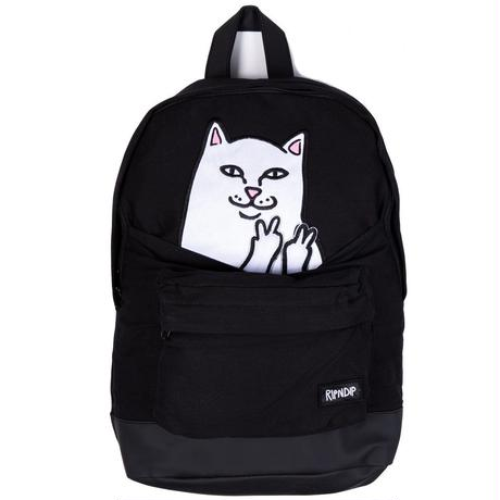 RIPNDIP Lord Nermal Velcro Hands Backpack BLACK