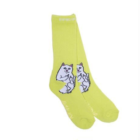 RIPNDIP Lord Nermal Socks SAFETY GREEN