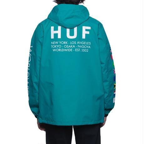 HUF REGIONAL TOUR ANORAK TROPICAL GREEN