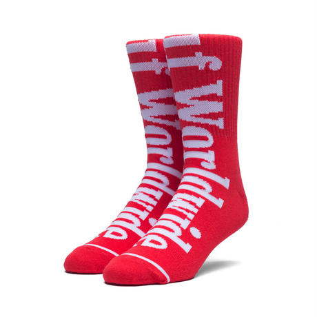 HUF COUNTRY CREW SOCKS RED