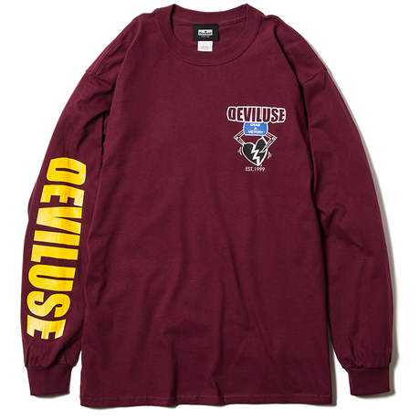 Deviluse Heart Catcher L/S T-Shirts MAROON