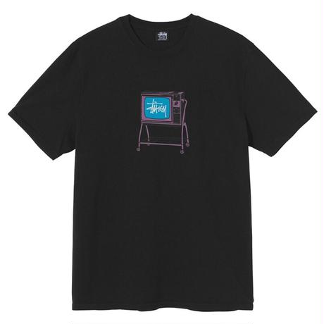 STUSSY ROLLING TV PIGMENT DYED TEE BLACK