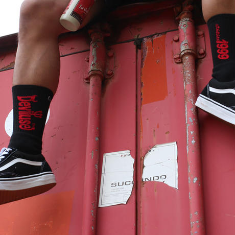 Deviluse Logo Socks BLACK