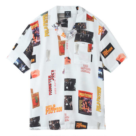 HUF PULP FICTION PHOTO WOVEN TOP WHITE