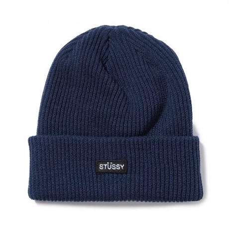STUSSY Small Patch Watchcap Beanie NAVY