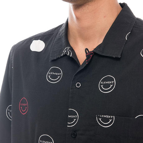 ELEMENT POLKA SMILE SS SHIRTS BLACK