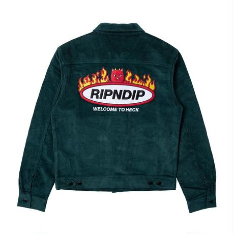 RIPNDIP Welcome To Heck Corduroy Jacket Hunter Green