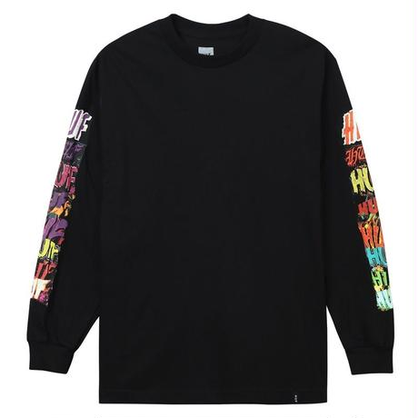 HUF CINEMA L/S TEE BLACK