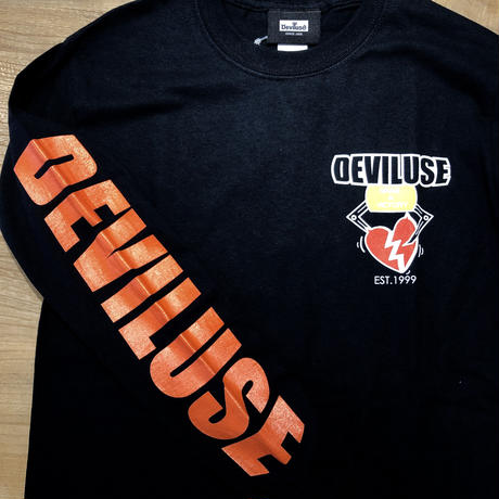 Deviluse Heart Catcher L/S T-Shirts BLACK