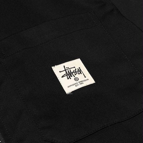 STUSSY ZIP UP WORK L/SL SHIRT BLACK