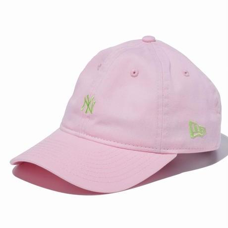 【キッズ】NEW ERA YOUTH 9TWENTY 2トーンストラップ ニューヨーク・ヤンキース ミニロゴ ピンク × エリングリーン