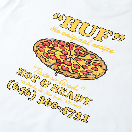 HUF HOT & READY S/S TEE WHITE