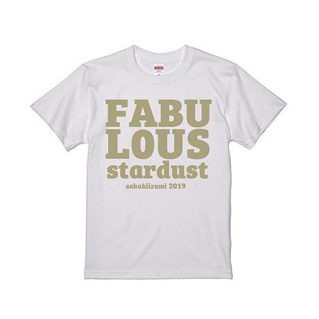 FABULOUS stardust T-shirts(white gold)