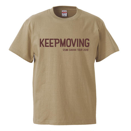 KEEP MOVING T-shirts(khaki)