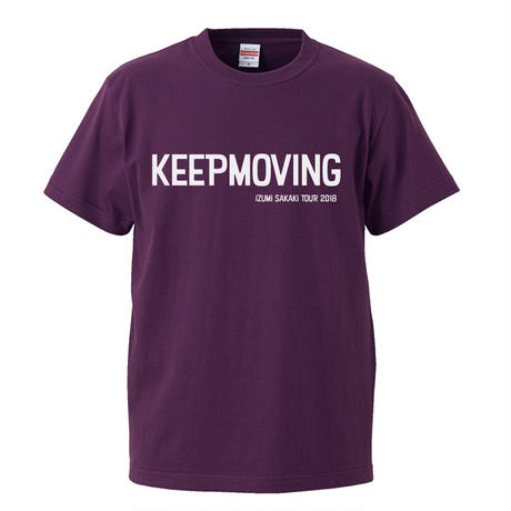 KEEP MOVING T-shirts(purple)