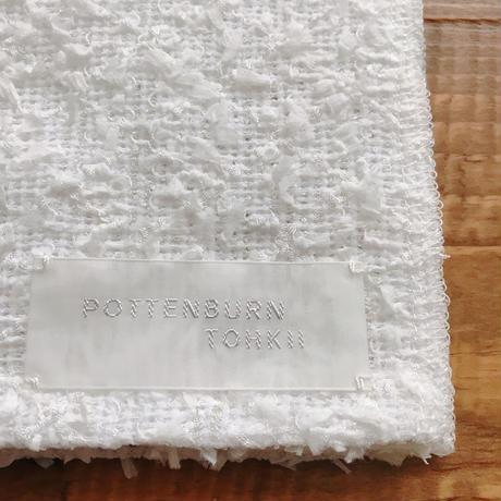 POTTEN BURN TOKII×坂本呉服店オリジナル RIBBON半襟 ホワイト