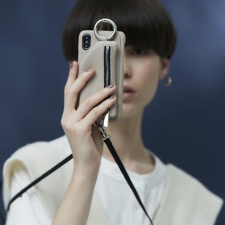 ajew cadenas zipphone case shoulder BLACK