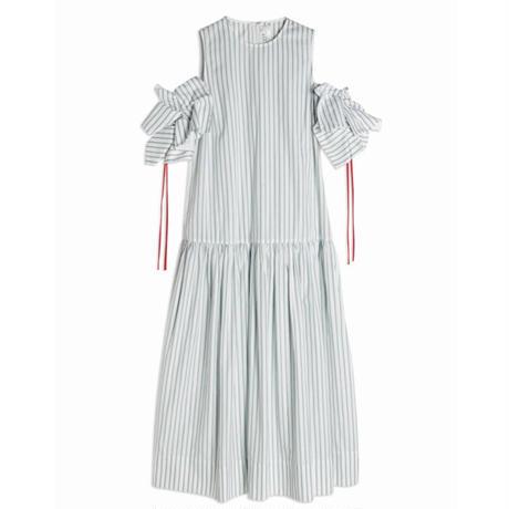 VVB STRIPE DRESS  SAGE GREEN/WHITE