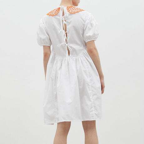 CECILIE BAHNSEN MALOU DRESS OPTIC WHITE