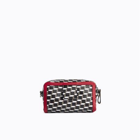 PIERRE HARDY CAMERA BAG BLACK-WHITE-RED