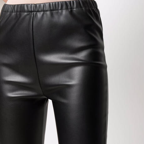 MM6 FAKE LEATHER LEGGINGS PANTS BLACK