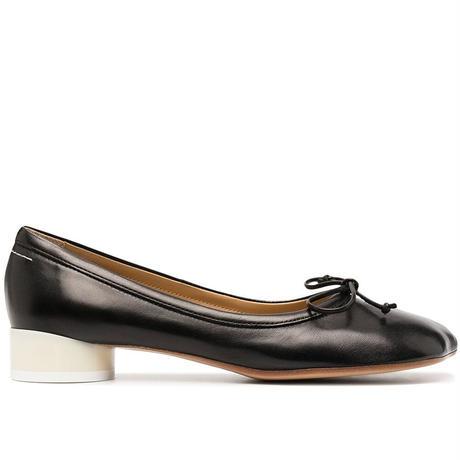 MM6   ballet heel shoes  BLACK